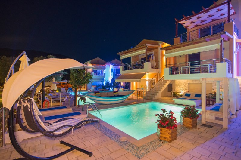 Two level split villa with private pool
